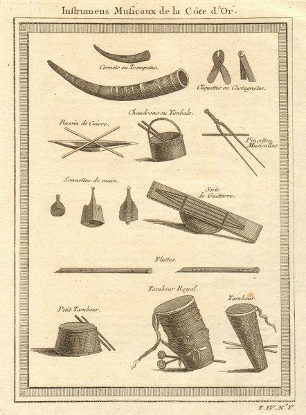 Associate Product 'Instrumens Musicaux de la Côte d'Or'. Ghana Gold Coast musical instruments 1747