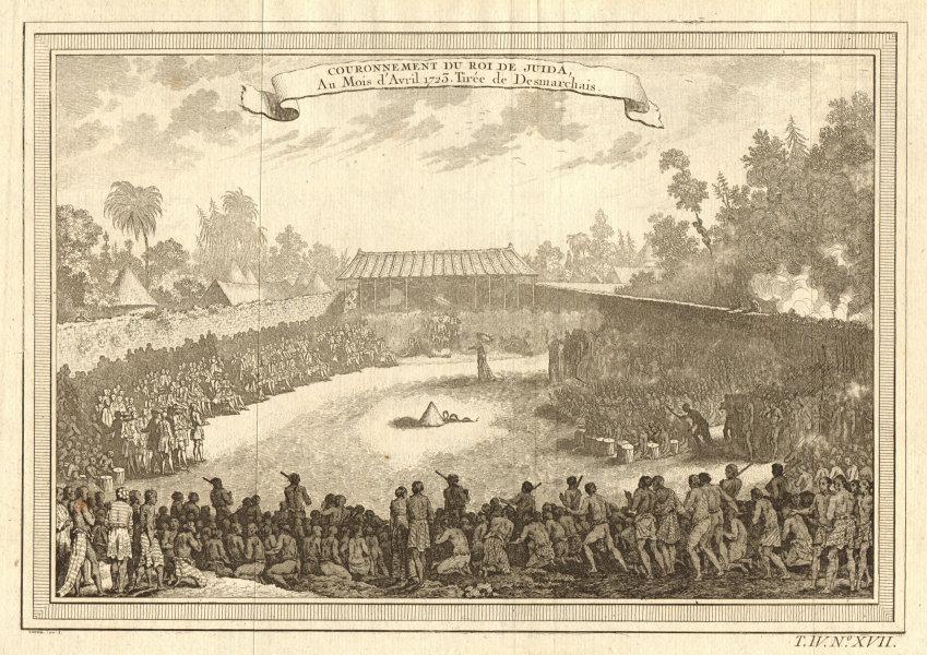 Associate Product Benin. Coronation of King Haffon of Whydah in 1723. Ouidah 1747 old print