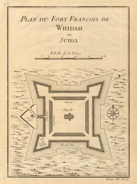 Associate Product 'Plan du Fort François de Whidah ou Juida'. Fort Ouidah, Benin. BELLIN 1747 map