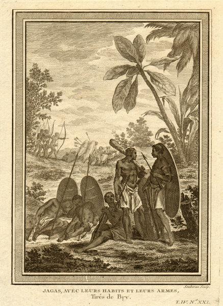 Associate Product 'Jagas avec leurs habits & leurs armes'. Congo. Jagas people with weapons 1747