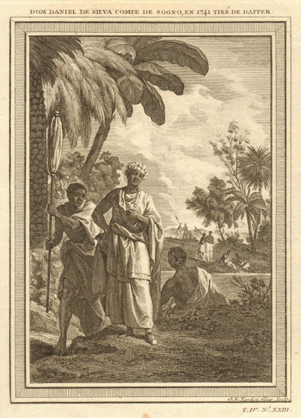 Associate Product Dom Daniel de Silva, Count of Soyo, in 1641 (not 1741). Angola. Kongo 1748