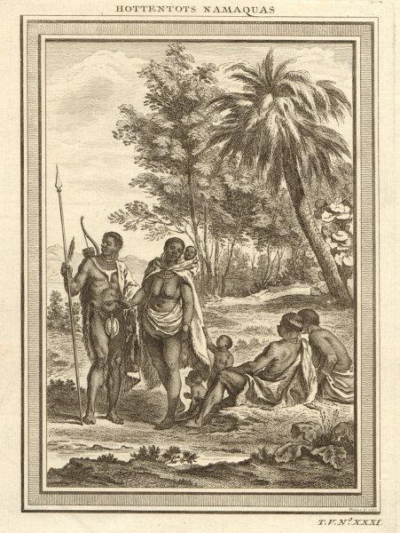 Associate Product 'Hottentots Namaquas'. Khoikhoi people of Namaqualand. Namibia/South Africa 1748