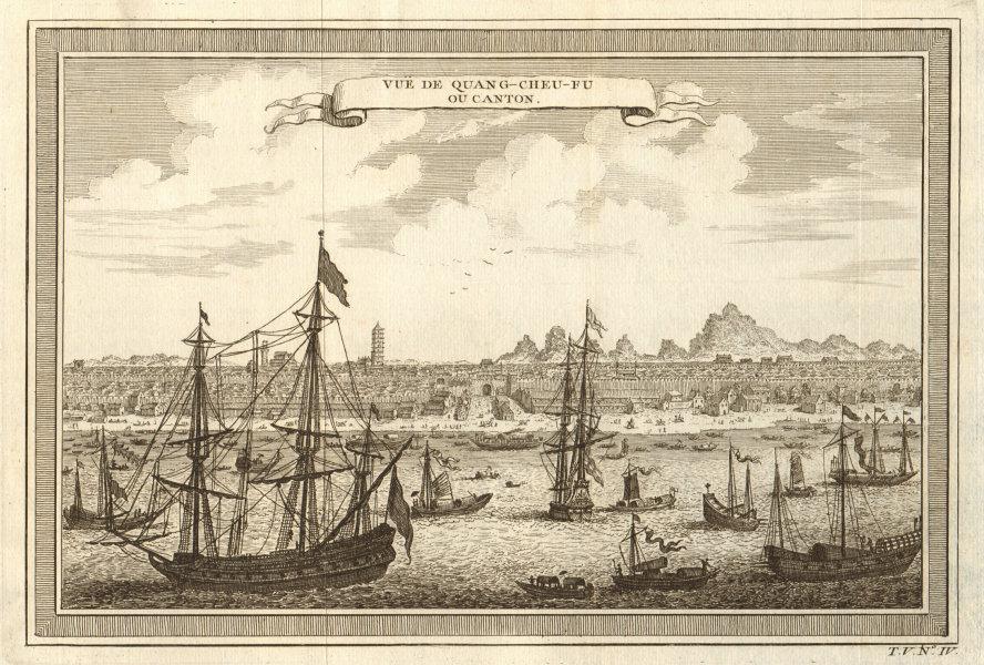 'Vue de Quang-cheu-fu ou Canton'. China. View of the city of Guangzhou 1748