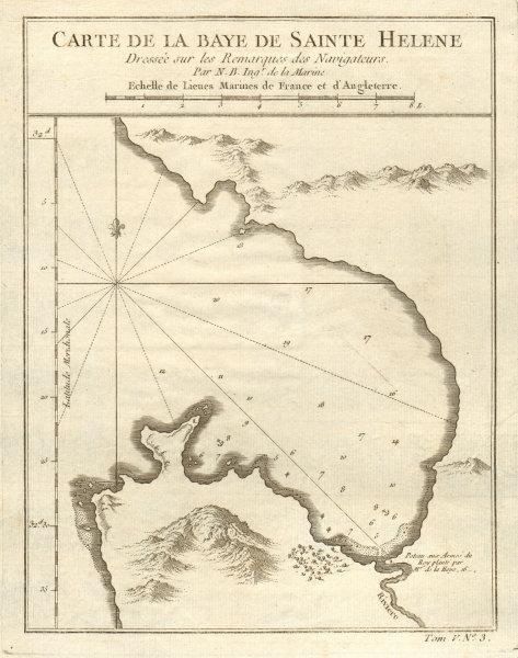 Associate Product 'La Baye de Sainte Helene'. St Helena Bay, South Africa. BELLIN 1748 old map