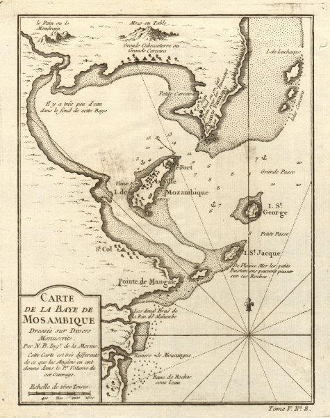 Associate Product 'La Baye de Mozambique' island. Mossuril Bay. Ilha de Moçambique BELLIN 1748 map