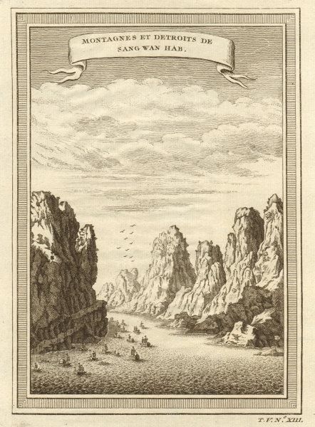 Associate Product 'Montagnes et detroits de Sang Wan Hab'. Bei jiang gorge Qingyuan Guangdong 1748