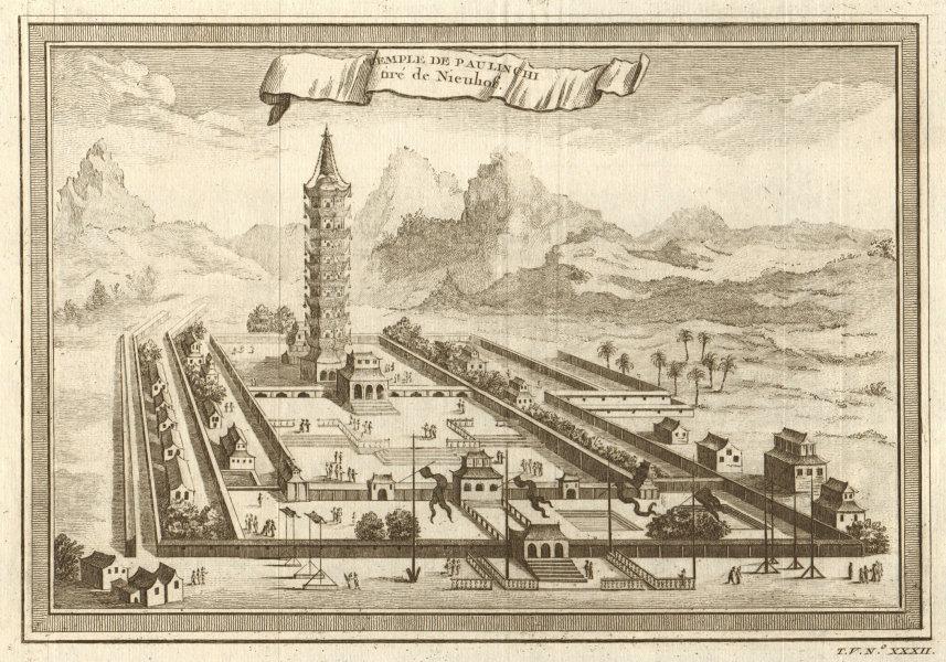 Associate Product Great Bao'en Temple. 'Temple de Pau Lin Chi'. Porcelain Tower Nanjing China 1748