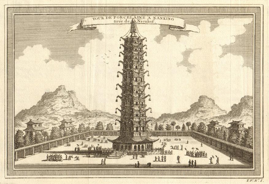 Associate Product 'Tour de Porcelaine à Nanking'. Nanjing tower. Great Bao'en Temple. China 1748