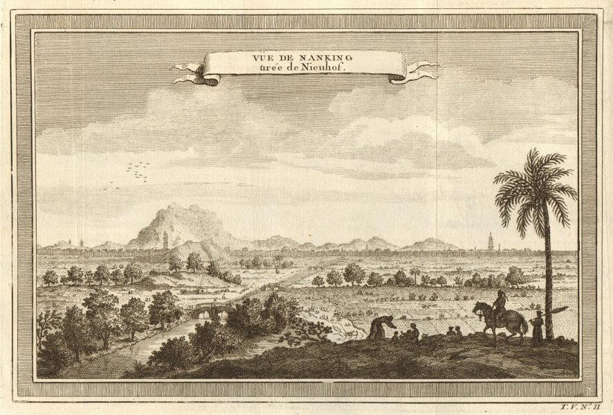 Associate Product 'Vue de Nanking tirée de Nieuhof'. View of the city of Nanjing, China 1748