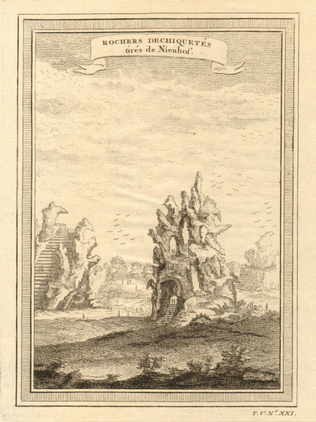 Associate Product 'Rochers dechiquetés'. China. Ragged cliffs, taken from Nieuhof 1748 old print