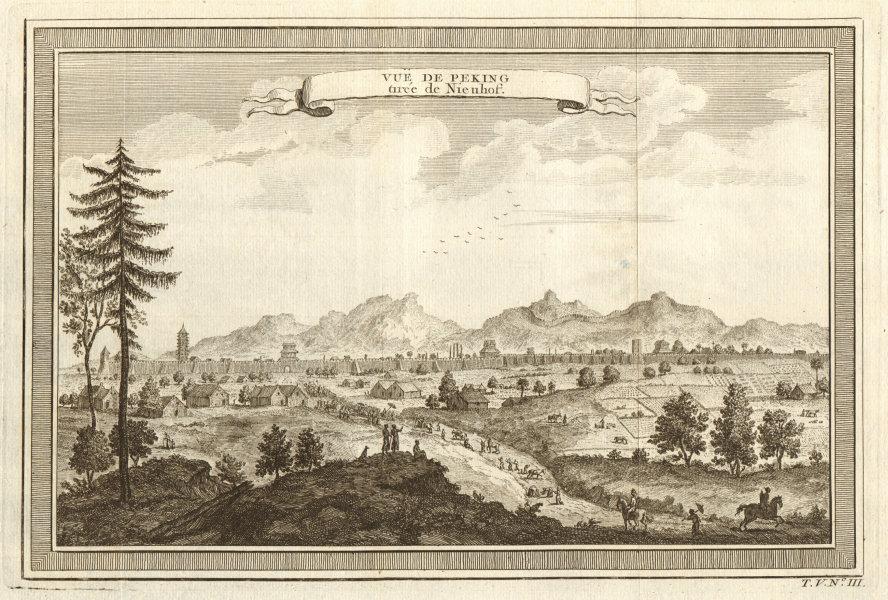 Associate Product 'Vue de Peking'. China. View of the city of Beijing, after Nieuhof 1748 print