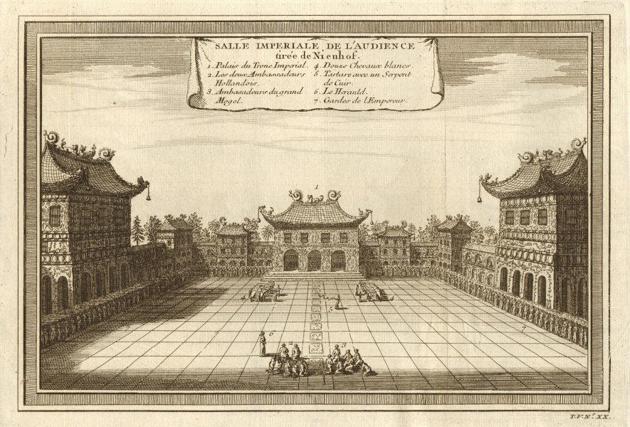 Associate Product 'Salle Imperiale de l'Audience'. Nieuhof. Forbidden City, Beijing. Peking 1748