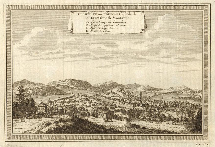 Associate Product 'Fu Cheu Fu, ou Hoksyeu; Capitale de Fo kyen'. View of Fuzhou, Fujian China 1748