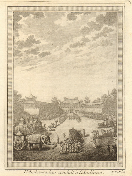 Associate Product 'L'Ambassadeur conduit à l'audience'. Montanus 1665 Beijing Peking China 1748