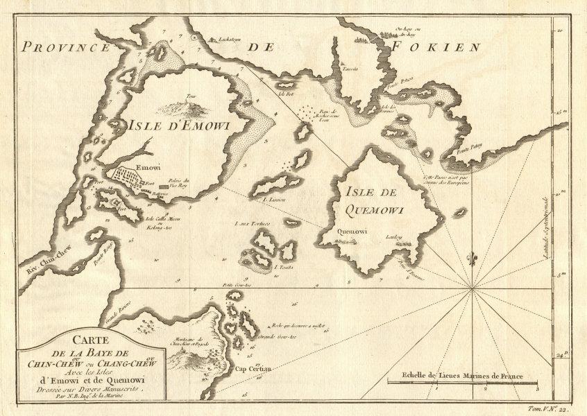 Associate Product 'Carte de la Baye de Chin-chew'. Zhangzhou & Xiamen, China. BELLIN 1748 map