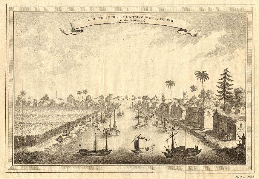 Associate Product 'Jo Si wo'. Io si wo, on the Haihe river between Tianjin & Beijing. Boats 1748