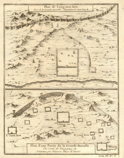 Associate Product Great Wall of China. Yongping, Lulong county & Longguan, Hebei. BELLIN 1748 map