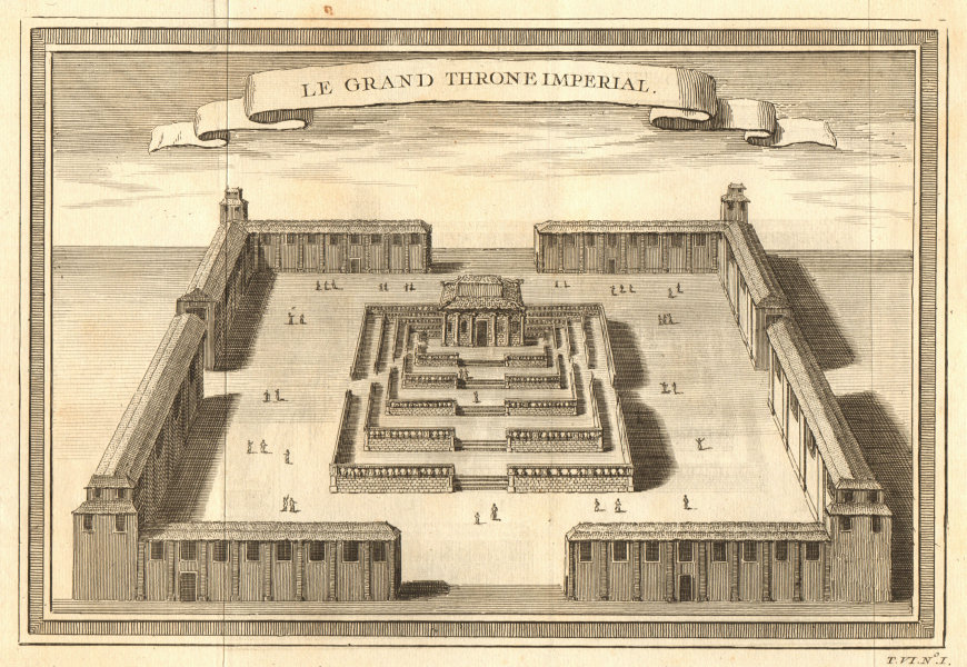 Associate Product 'Le Grand Throne Imperial'. The Forbidden City, Beijing, China 1748 old print