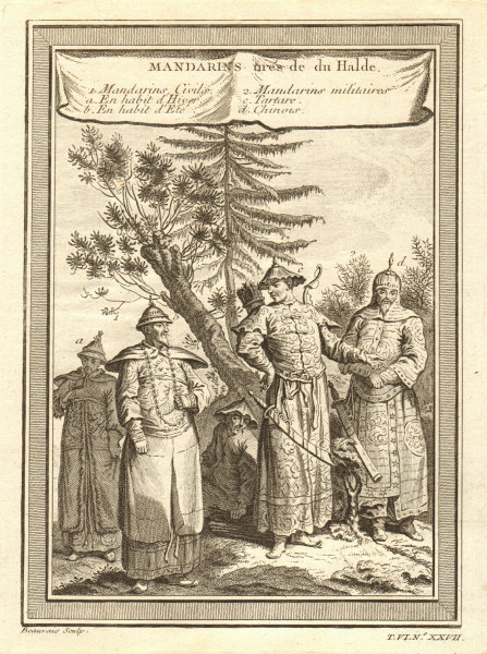 Associate Product China Mandarin Bureaucrat winter/summer dress Military Tatar Chinese 1748