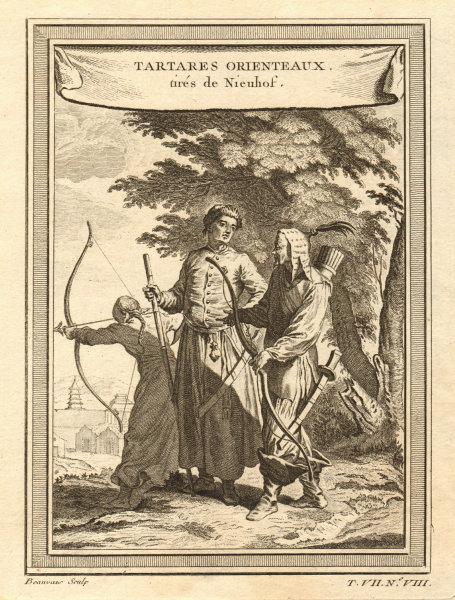 Associate Product 'Tartares Orientaux tirés de Nieuhof'. Chinese Tatars. Archery. China 1749