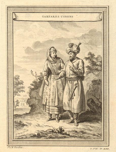 Associate Product 'Tartares Usbens'. Uzbekistan. Usbek Tartars in costume 1749 old antique print