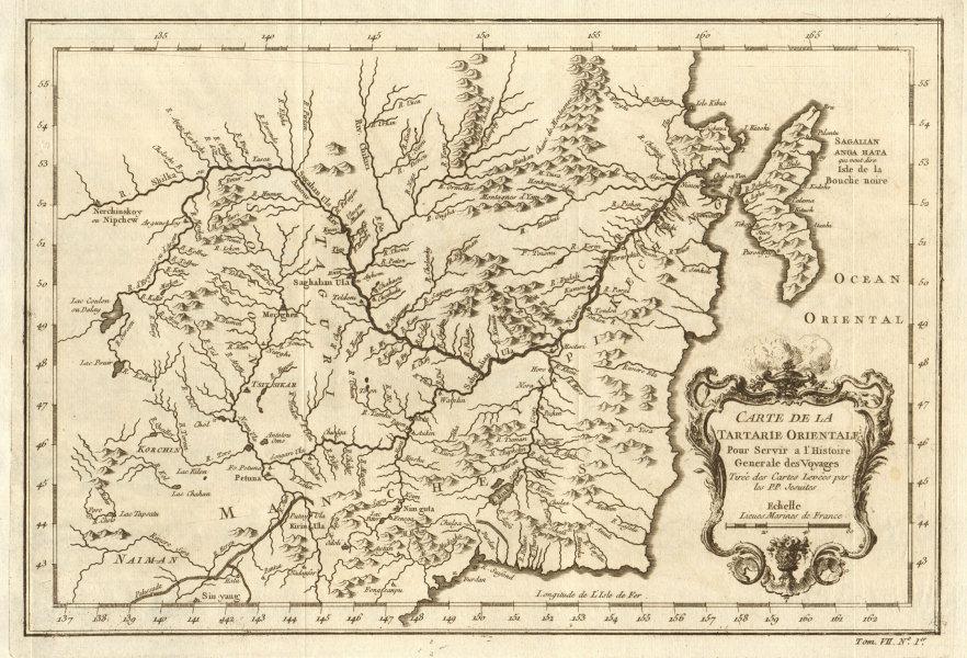 Associate Product 'Carte de la Tartarie Orientale'. Tartary China Russia Sakhalin. BELLIN 1749 map