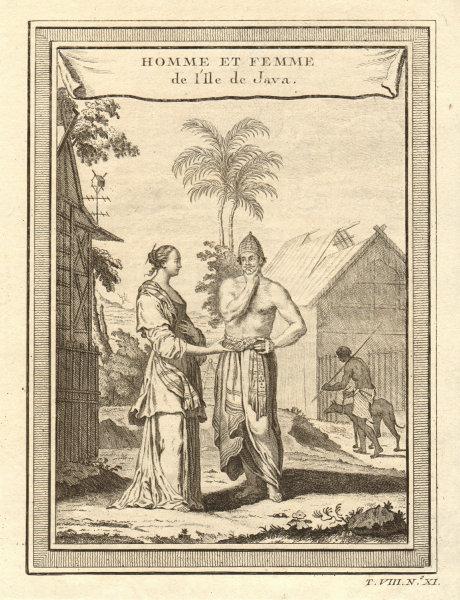 Associate Product 'Homme & Femme de l'Ile de Java'. Javanese man & woman. Indonesia 1750 print