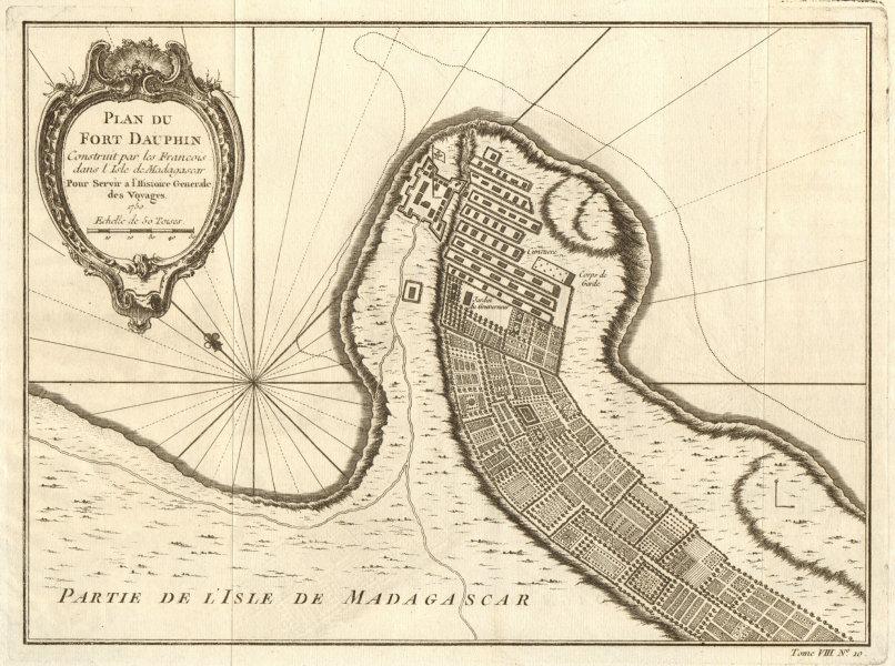 Associate Product 'Plan du Fort Dauphin'', Madagascar. Tolanaro Tolagnaro plan. BELLIN 1750 map