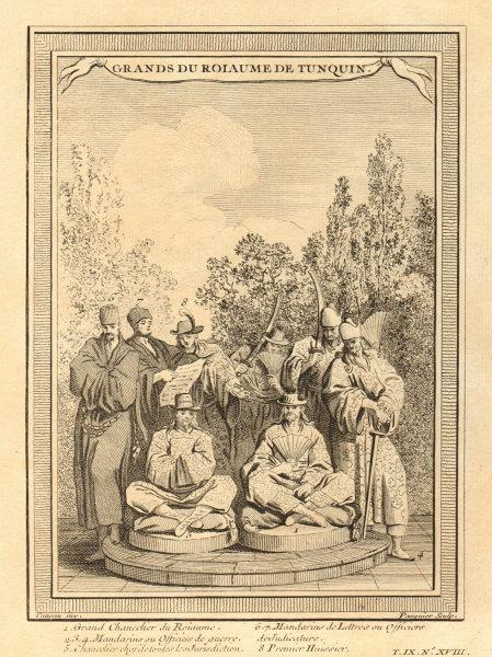 Associate Product Vietnam. Kingdom of Tonkin Grandees. Chancellor Mandarins Scholars 1751 print