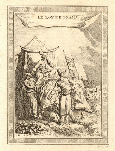 'Le Roy de Brama'. Probably Alaungpaya, King of Burma & his elephant 1751
