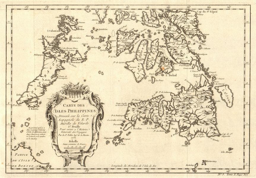Associate Product 'Carte des Isles Philippines 2e feuille'. Visayas Mindanao. BELLIN 1752 map