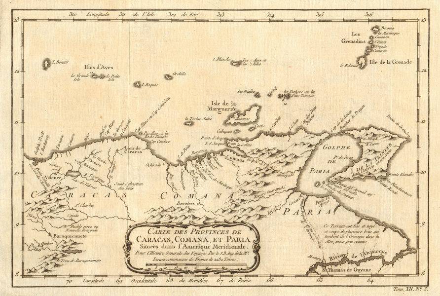 Associate Product 'Carte des Provinces de Caracas…' Aruba Bonaire Curacao Trinidad BELLIN 1754 map