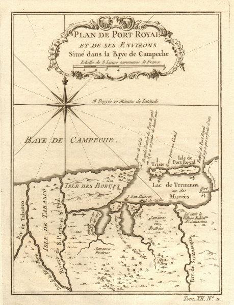 Associate Product 'Port Royal… dans la Baye de Campeche'. Cuidad del Carmen Mexico BELLIN 1754 map