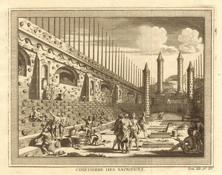 Associate Product Cimetière / Cemetery of Human Sacrifices, Tenochtitlan-Mexico City 1754 print