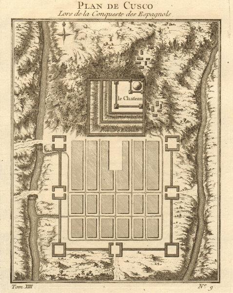 Associate Product 'Plan de Cusco'. City plan of Cusco, Peru. BELLIN 1756 old antique map chart