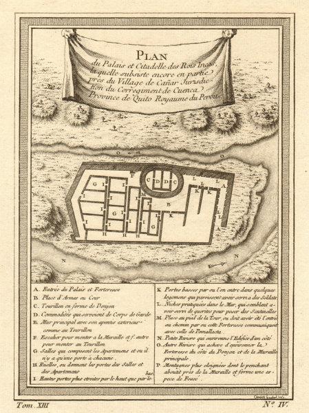 Associate Product Palace & Citadel of the Inca Kings, Ingapirca, Canar. Ecuador. BELLIN 1756 map