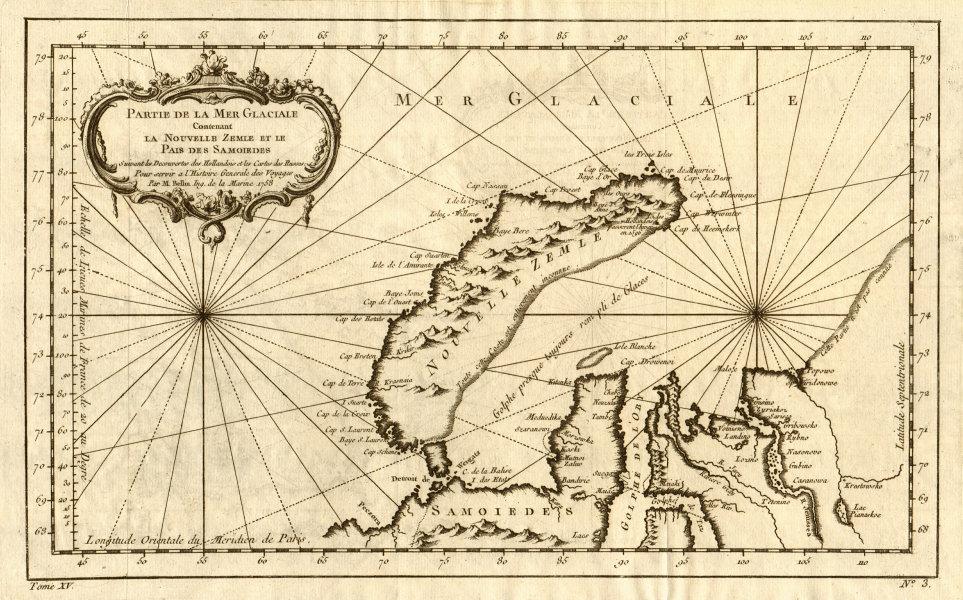 Associate Product Mer Glaciale contenant la Nouvelle Zemle & le Païs des Samoiedes BELLIN 1759 map