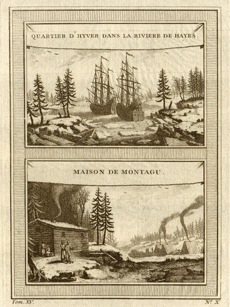 Associate Product Henry Ellis winter quarters 1746, Hayes River & Montagu's house, Hudson Bay 1759