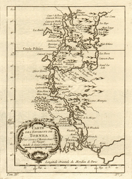 Associate Product 'Carte des environs de Tornea'. Tornio & Torne river. Finland. BELLIN 1759 map