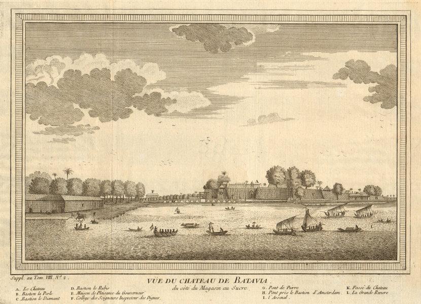 Associate Product 'Vue du Château de Batavia'. Castle. Dutch East Indies. Jakarta, Indonesia 1761