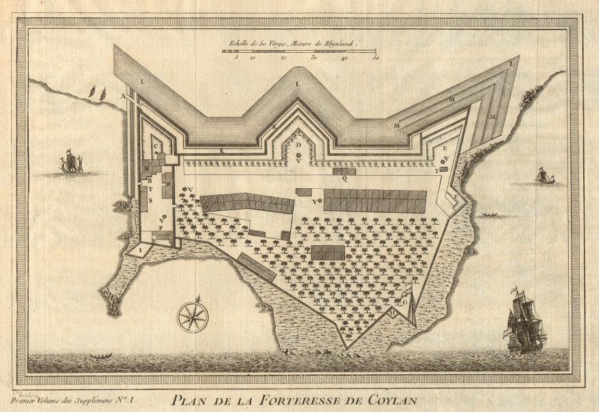 Associate Product 'Plan de la Forteresse de Coylan'. Kollam fortress Kerala India. BELLIN 1761 map
