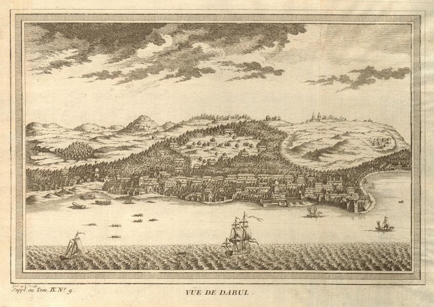 Associate Product 'Vue de Dabul'. View of Dabhol, Ratnagiri district, Maharashtra, India 1761