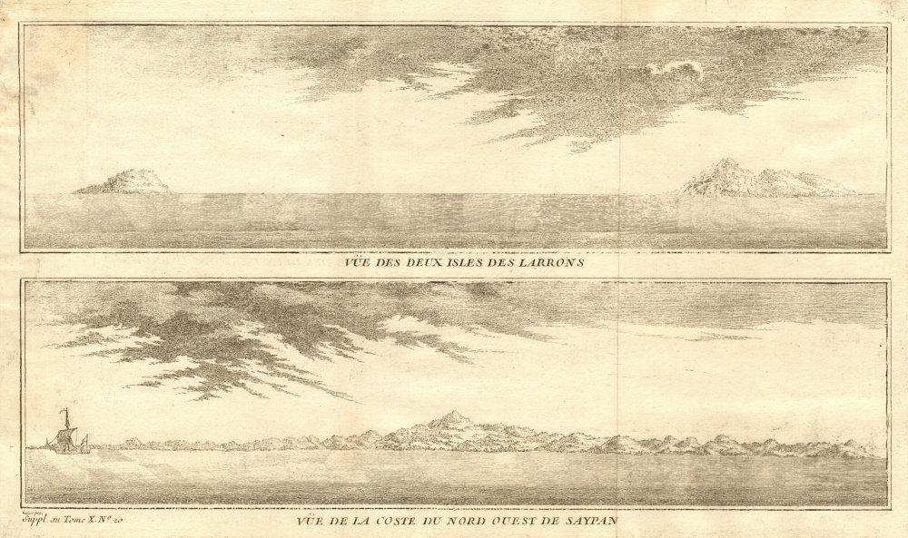 Associate Product Anatahan, Sarigan & Saipan. Northern Mariana islands coast profiles 1761 print