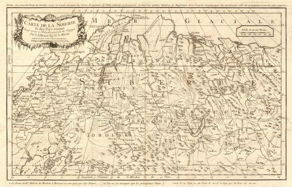 Associate Product 'Carte de la Sibérie et des pays voisins'. Siberia. Russia. BELLIN 1768 map