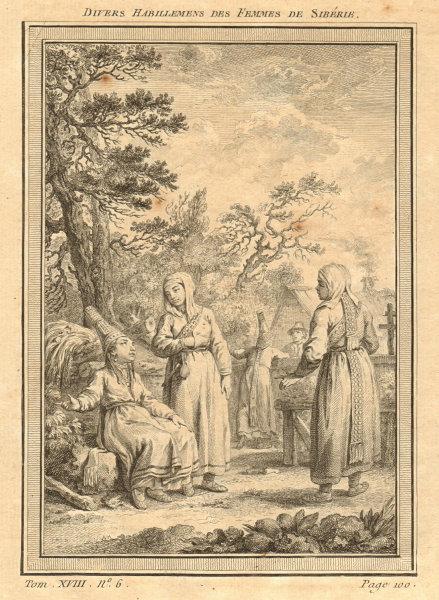 Associate Product 'Divers habillements des femmes de Sibérie'. Siberian women's dress 1768 print