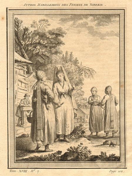 Associate Product 'Autres habillements des femmes de Siberie'. Siberian women's dress 1768 print