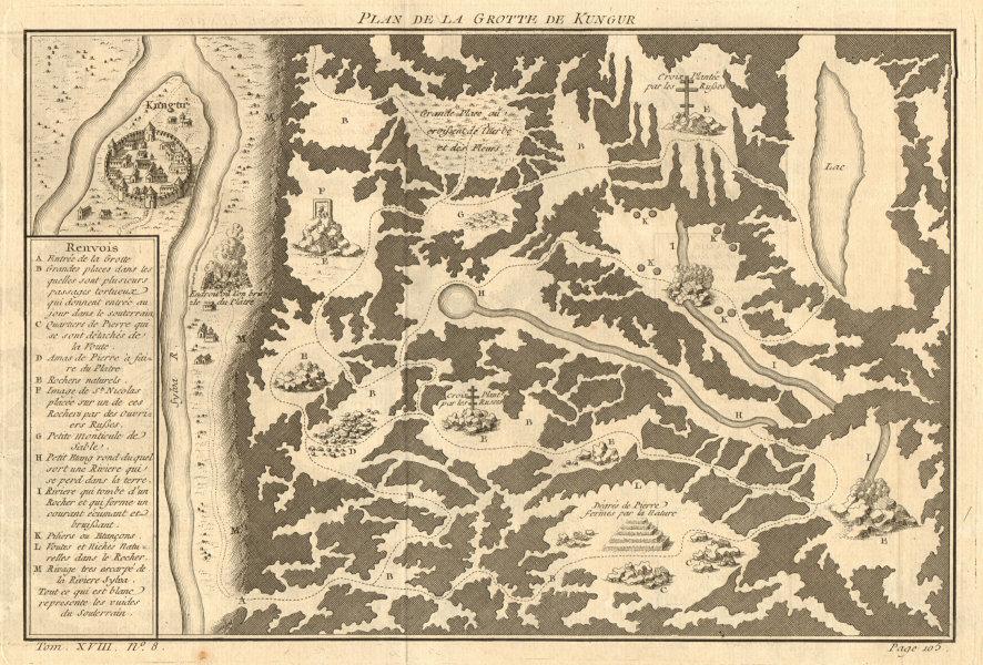 Associate Product 'Plan de la Grotte de Kungur'. Kungur Ice Cave Perm Krai Russia. BELLIN 1768 map