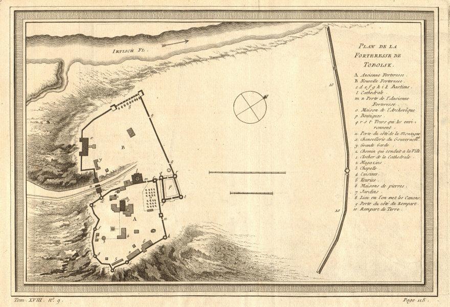 Associate Product 'Plan de la Forteresse de Tobolsk'. Fortress or Kremlin. BELLIN 1768 old map