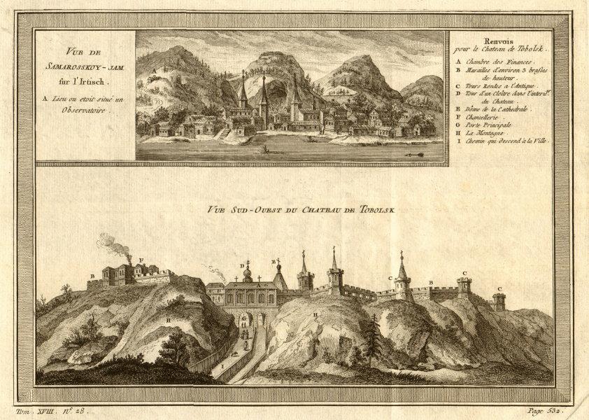 SW view of Tobolsk kremlin & View of Khanty-Mansiysk on the Irtysh, Russia 1768