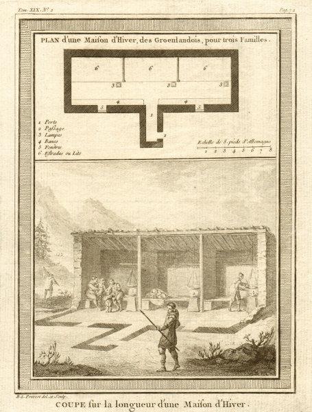 Associate Product 'Plan d'une Maison d'Hiver des Groenlandois'. Greenlanders' winter house 1770
